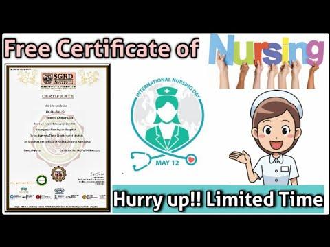 Free Nursing Certificate || Medical Certificate || Free Nursing quiz ...