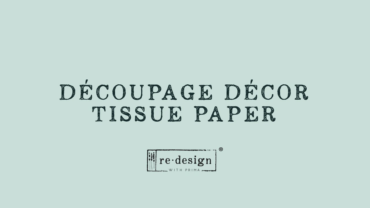 Decoupage-arkki - Zoey - Prima Redesign Decor Tissue Paper