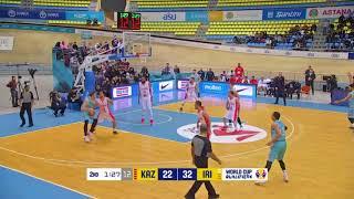 Лучшие моменты матча: Казахстан - Иран (Квалификация на Чемпионат Мира 2019)