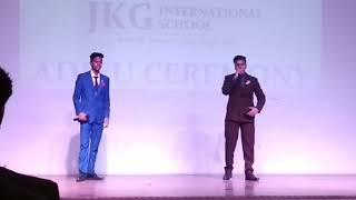 King B feat. Shaun kumar-Suit suit live in ADIEU Ceremony in jkg international school ghaziabad