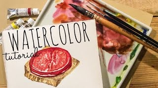 🖌 Food Illustrations Tutorial - How To Use Watercolor With Scarlett Damen