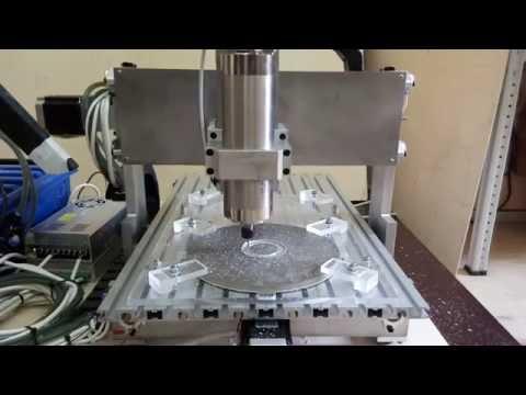 Двусторонняя обработка заготовки 10 мм из алюминия. Фрезеровка и сверловка по алюминию.