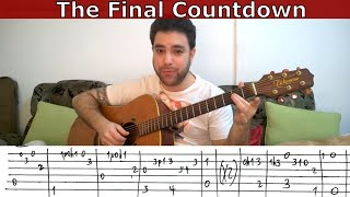 Fingerstyle Tutorial: The Final Countdown (Full) - Guitar Lesson w/ TAB