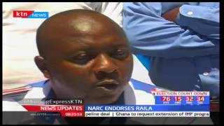 Narc members endorse Raila Odinga's presidential election bid and vow to drum up support