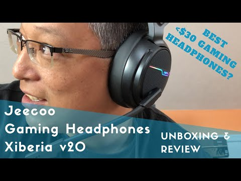 Xiberia v20 Gaming Headphones by Jeecoo - Unboxing and Review, xbox, playstation, switch, vita, PC