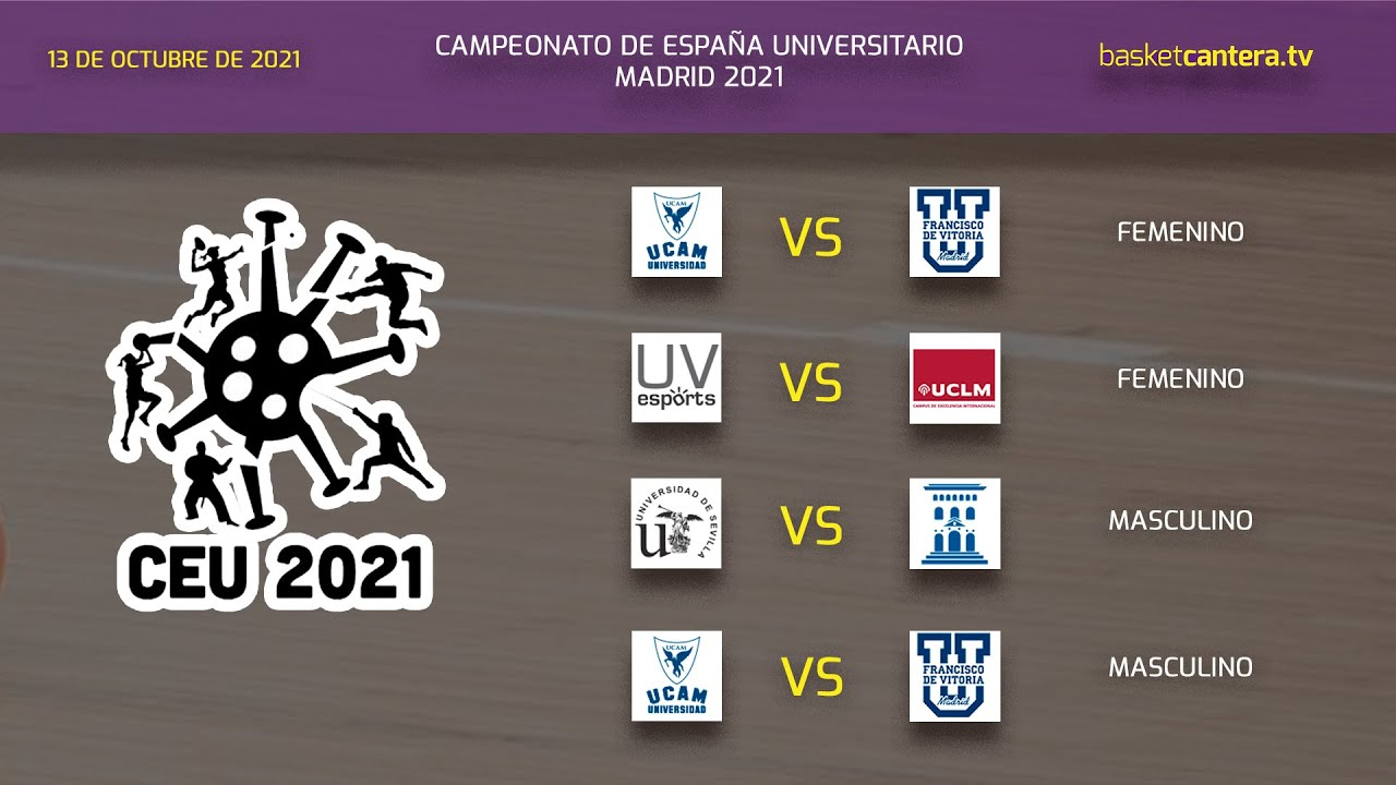 Campeonato España Baloncesto Universitario 2021.- VÍDEO 5 - Partidos Sede U. Fco. de Vitoria - Día 2 (mañana)