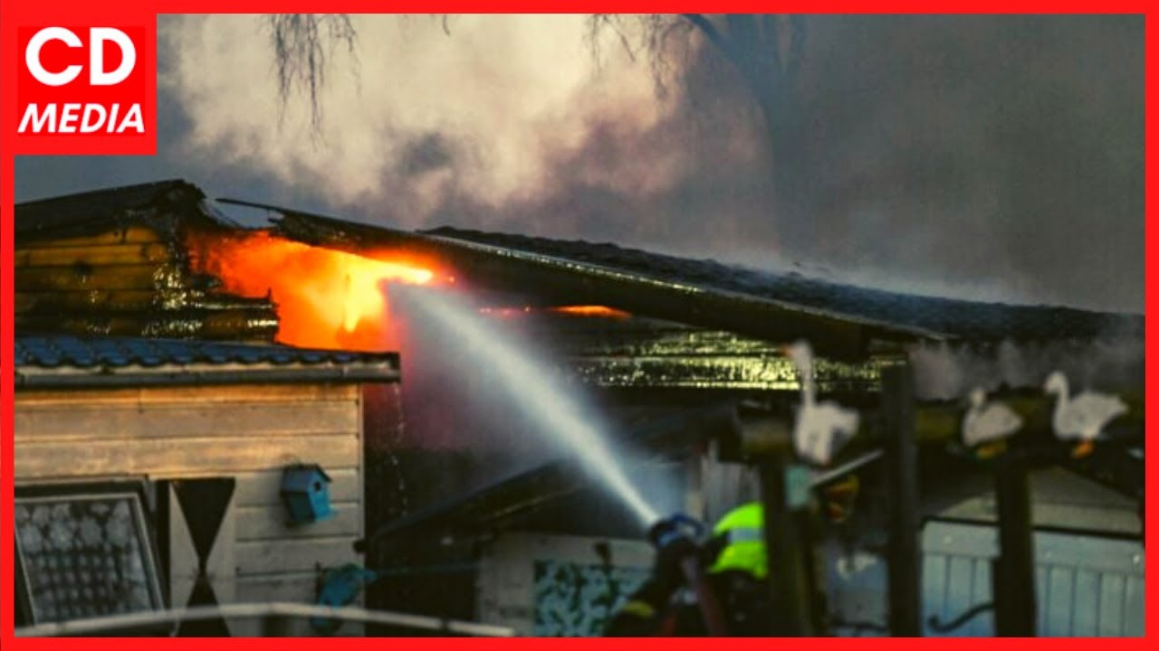 Grote brand op bungalowpark in De Meije