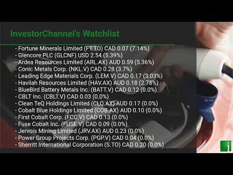 InvestorChannel's Cobalt Watchlist Update for Wednesday, A ... Thumbnail