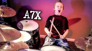 Avenged Sevenfold - Bat Country (8 year old Drummer)