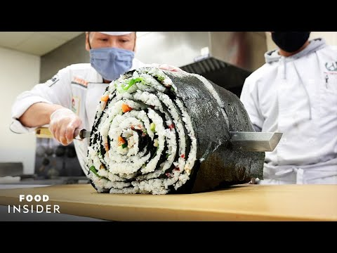 Making Gigantic Sushi Rolls