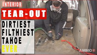 Detailing Dirtiest Car Ever! Seat Removal Chevy Tahoe