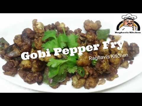 Cauliflower pepper fry || Gobi Pepper Fry || Pepper Gobi Recipe