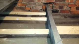 Fitting insulation and boarding a loft space with small rafters
