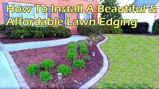 How to Install A Beautiful & Affordable Paving Stone Edging