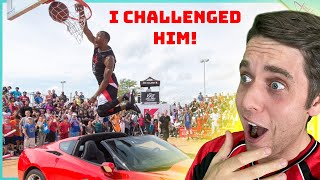 Challenging SLAM DUNK WORLD CHAMPION To Trick vs Dunk Contest!