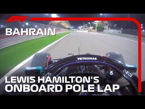 ポールポジションを獲得したルイス・ハミルトンのオンボード映像。F1 バーレーンGP