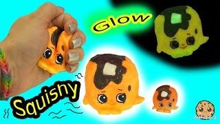DIY Glow In The Dark Squishy Shopkins Season 4 Pancake Jake Inspired Craft Do It Yourself Video