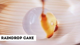 'RAINDROP' CAKE TASTE TEST! + RECIPE