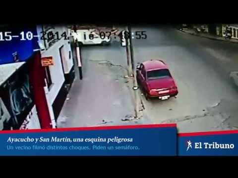 Accidente en Ayacucho y San Martín