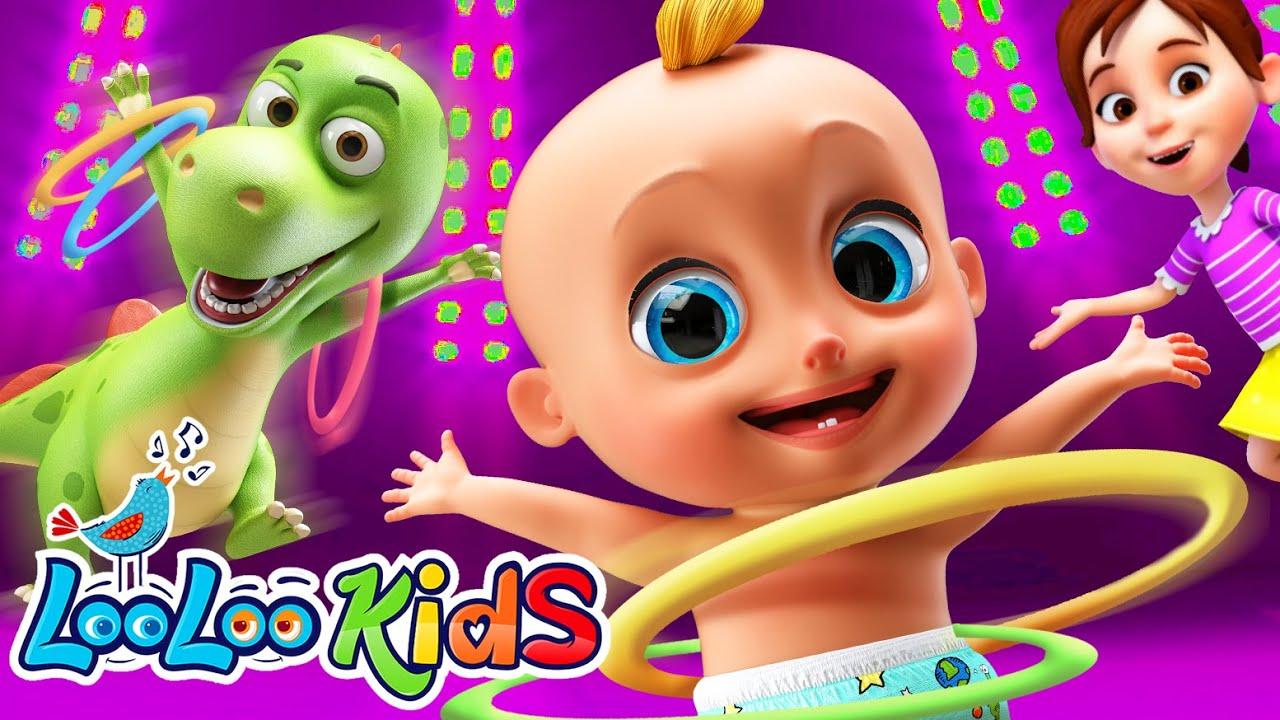 Shaky Shaky & Hula Hoop Dance - Dance Songs For KIDS Kids Songs LooLoo KIDS Nursery Rhymes