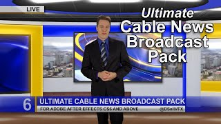 tv broadcast news packages - after effects template pond5