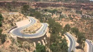 Driving to Semien Mountains in North Ethiopia