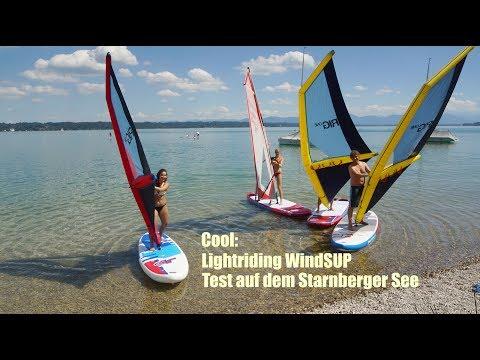 neuer Trend: Lightriding WindSUP im Test auf dem Starnberger See