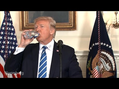 Trump's Water-Bottle Search Steals Show From Asia Presser