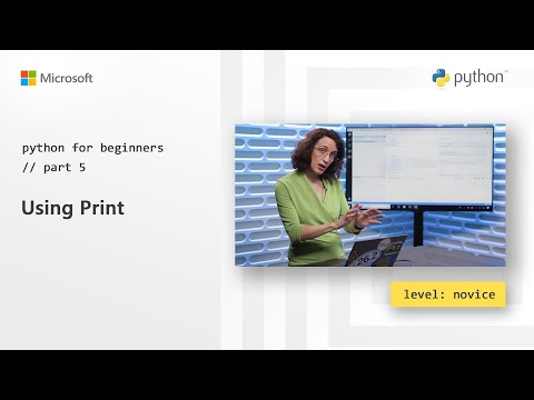 Using Print | Python for Beginners [5 of 44]