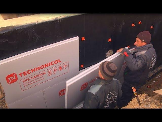 Технология утепления ленточного фундамента с помощью экструзионного пенополистирола ТЕХНОНИКОЛЬ