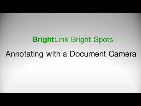 How to Annotate with a Document Camera