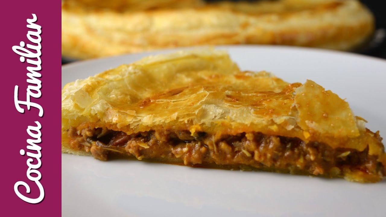 Empanada de carne con masa de hojaldre | Javier Romero