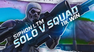 Suppressed Snipes in Solo v Squads! *Siphon LTM* (Fortnite Battle Royale Season 7)