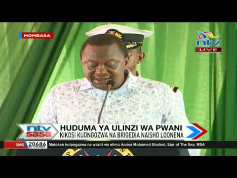 President Uhuru's speech as he commissions the Kenya Coast Guard Service