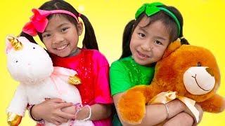 Hello Song | Jannie & Emma Pretend Play Nursery Rhymes & Kids Songs