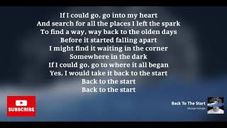 Michael Schulte | Back To The Start [Lyrics]