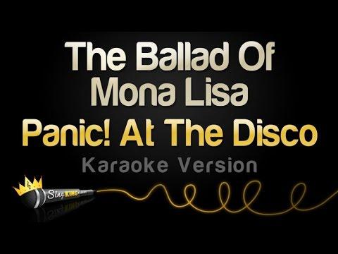 Panic At The Disco The Ballad Of Mona Lisa Karaoke Version Chords