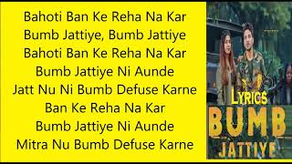 Bumb Jattiye Lyrics | Bobby Sunn | New Punjabi Song 2019