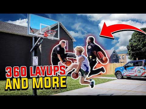 Police Officers Try To Do Crazy Layups!