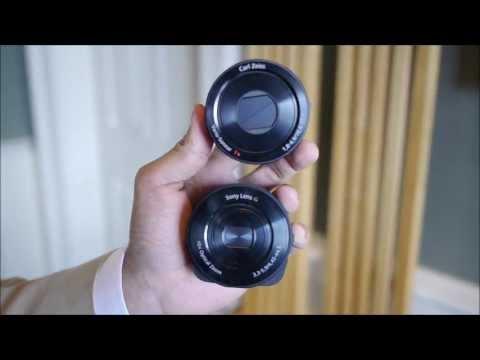 Sony Cyber shot DSC QX10 and DSC QX100 demo