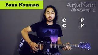Chord Gampang (Zona Nyaman -  Fourtwnty) By Arya Nara (Tutorial) Untuk Pemula