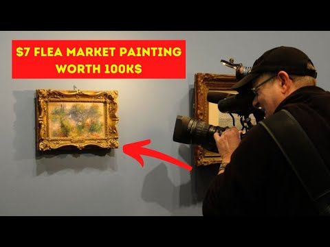 Woman Who Buys $7 Flea Market Painting Realizes The Famous Painter