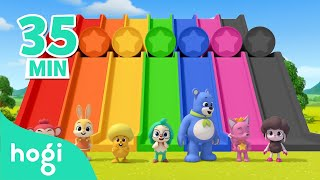 Learn Colors with Slide and More!   +Compilation   Colors for Kids   Pinkfong & Hogi Nursery Rhymes