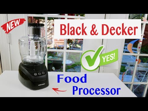 😍   Black & Decker PowerPro Wide-Mouth 10-Cup Food Processor - Review    ✅