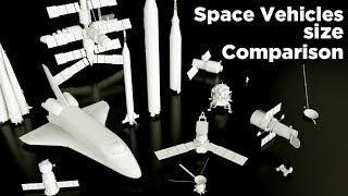 Space vehicles size Comparison