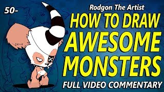50- HOW TO DRAW AWESOME MONSTERS