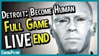 Detroit: Become Human FULL GAME MARATHON - (Detroit Become Human Gameplay Livestream ENDING)