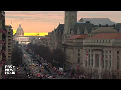 Time-lapse of sunrise on Inauguration Day 2017