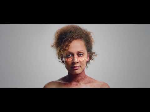 Foto de eczema seco em uma cara