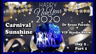 Carnival Sunshine 2020 New Years Cruise   Hairy Chest Contest, VIP Studio Show Day 2